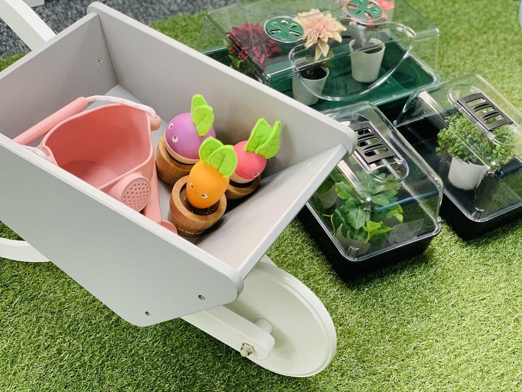 Garden outdoor park area of play centre near Ollerton with Le Toy Van set