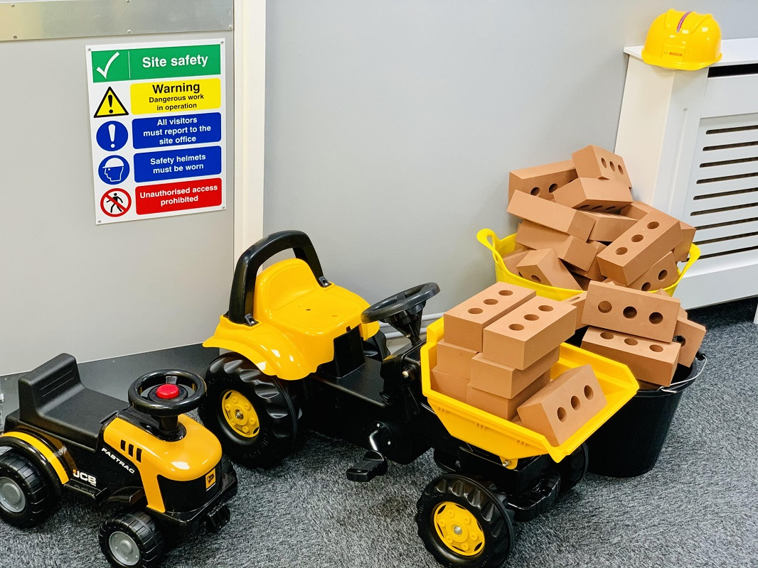 Foam Bricks and ride on toys